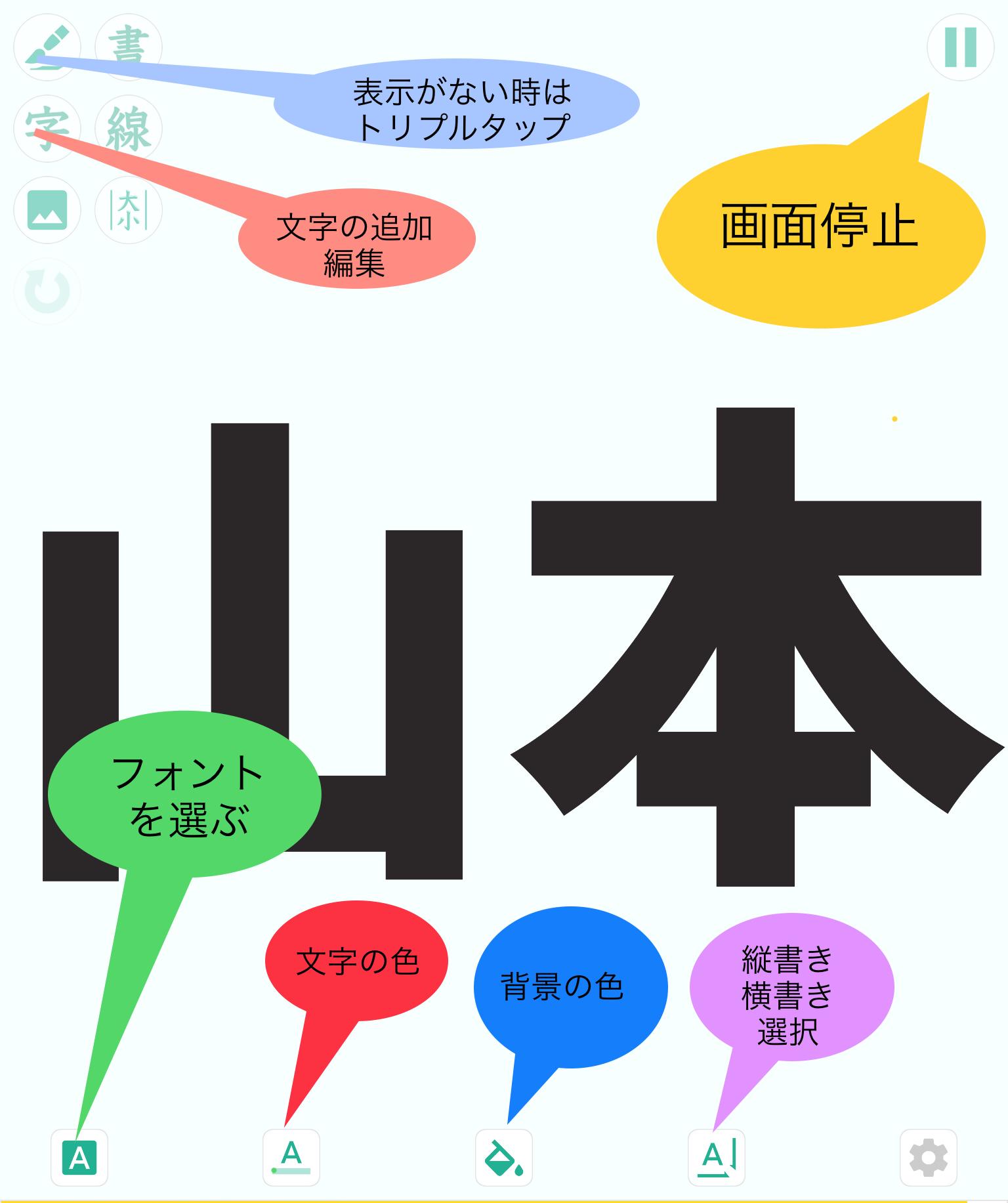 清書アプリ説明
