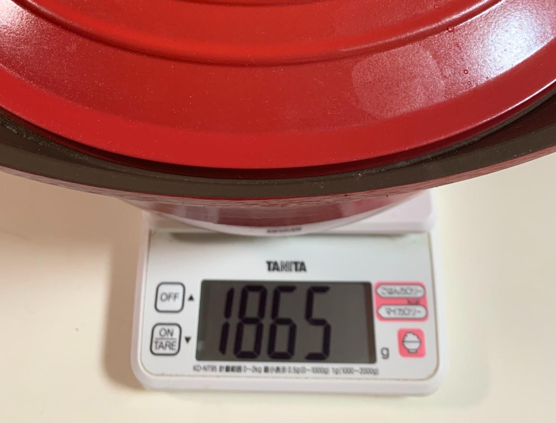 無加水鍋の重さ